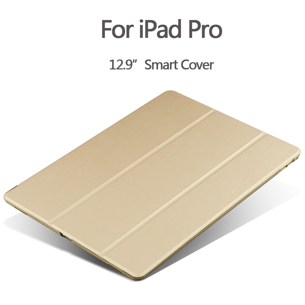 Fashion Ultra Slim Magnetic Front Smart Case Skin + Hard PC Back Cover case For New iPad Pro 12.9