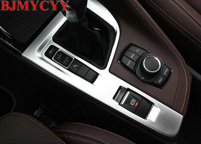 BJMYCYY Car Accessories Interior Decorative ABS Gear Shift Panel Cover Trim Frame for BMW X1 F48 2016 2017 Left Hand Drive LHD