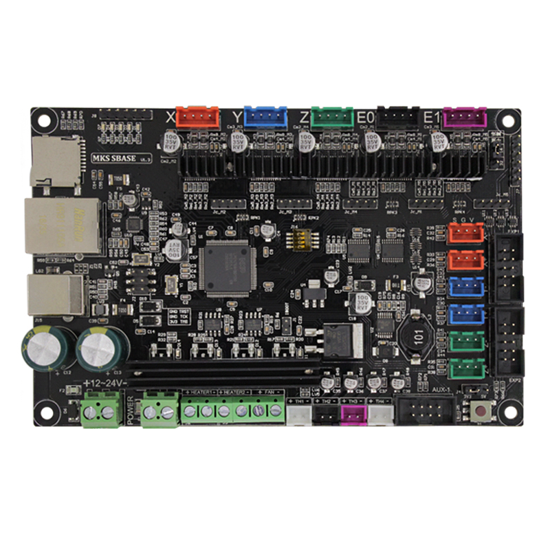 3Dprinter Smoothieware controller board SBASE V1.3 opensource 32bit Smoothieboard Arm support Ethernet preinstalled heatsink