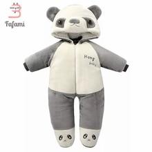 Outerwear & Coats Baby Snowsuit Winter Rompers Velvet Panda Baby Snow Wear Newborn Snowsuits jacket for women boy Cotton romper
