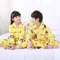 Crianças inverno Pijamas de Flanela Pijamas Meninos Meninas Pijamas Coral Fleece Crianças Conjuntos de Pijama 2-13 T Roupa Dos Miúdos Roupa de Dormir/Homewear