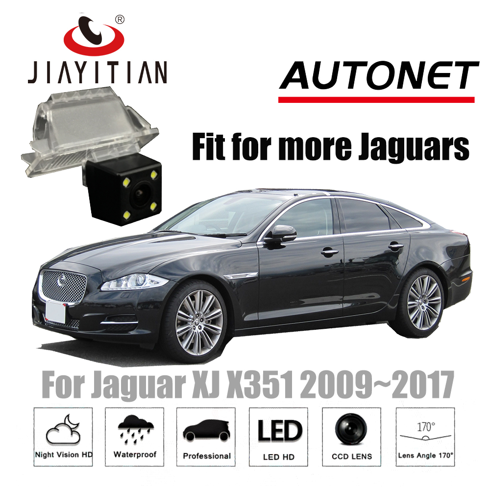 Otomobiller ve Motosikletler'ten Araç Kamerası'de JIAYITIAN Dikiz Kamera Için Jaguar XJ X351 2009 ~ 2017 4 LEDS HD CCD/Gece Görüş/Ters kamera/Yedekleme park kamerası title=