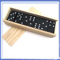 28 teile/satz Holz Dominosteine Traditionellen Bord Lustige Spiel Spielzeug Kinder Geschenke