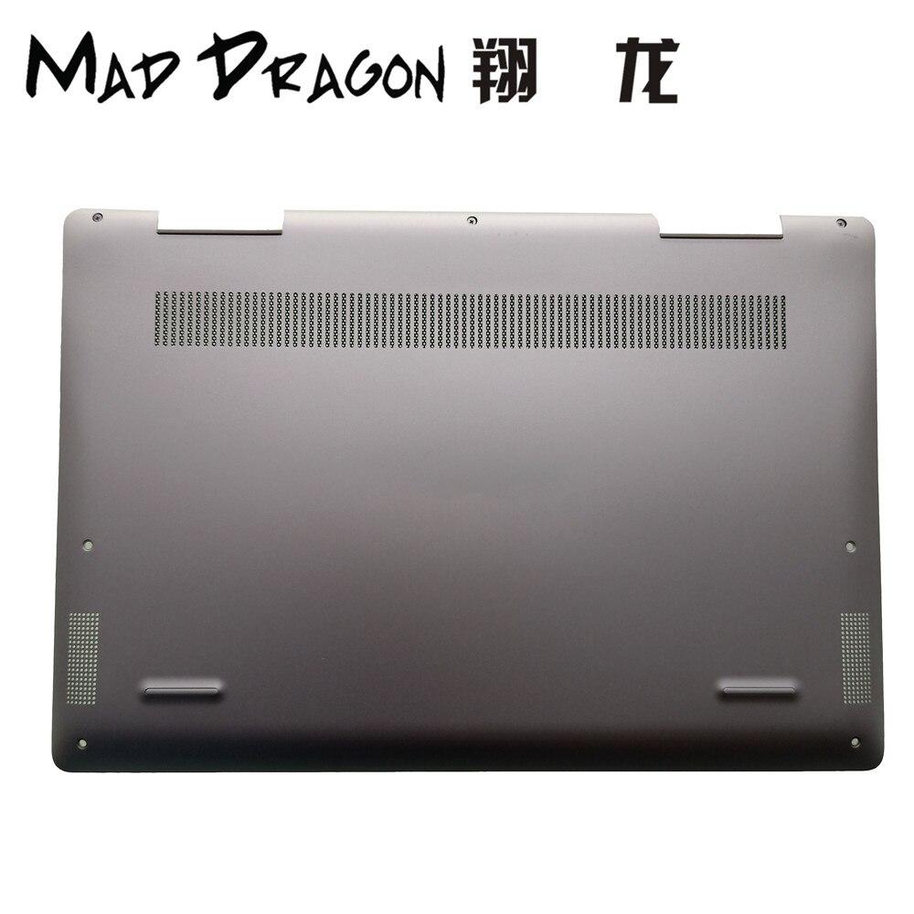 MAD DRAGON marque ordinateur portable nouvelle Base inférieure couvercle inférieur assemblage noir pour Dell Inspiron 13 7000 7386 2-en-1 7386 0C6GX9 C6GX9