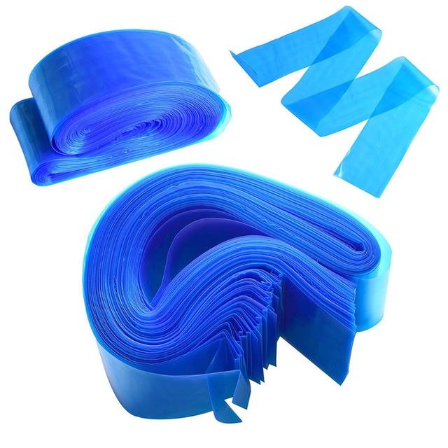 ATOMUS 100 piezas tatuaje azul Clip de cable de plástico mangas bolsas de alimentación desechables cubre bolsas para máquina de tatuaje accesorio