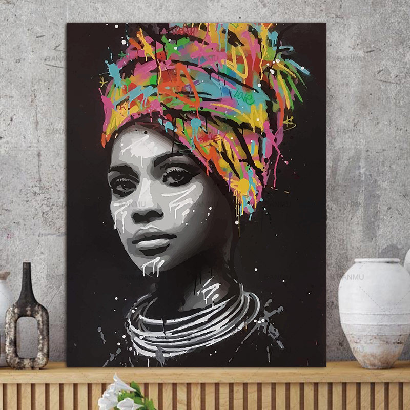 HTB18I41qNSYBuNjSsphq6zGvVXay canvas painting figure Picture wall art Picture portrait home decor painting abstract women picuture art poster and prints