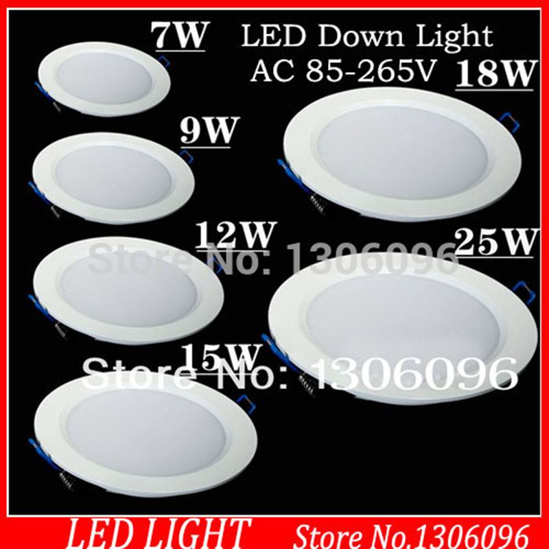 LED világító lámpa AC85-265 7W / 9W / 12W / 15W / 18W / 24W led - LED Világítás - Fénykép 1