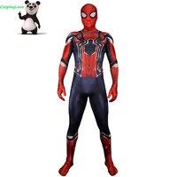 Marvel 2018 Avengers 3: Infinity War SpiderMan Peter Parker Jumpsuit Zentai Suits Lycra Jumpsuit Spandex Cosplay Costume