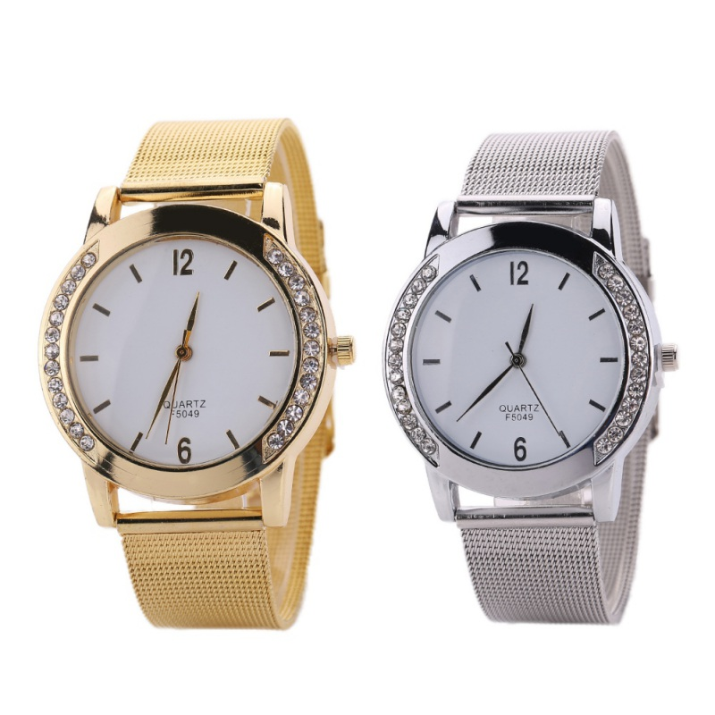 Women Rhinestone Watches Luxury Brand Stainless Steel Bracelet Watches Ladies Quartz Dress Watches
