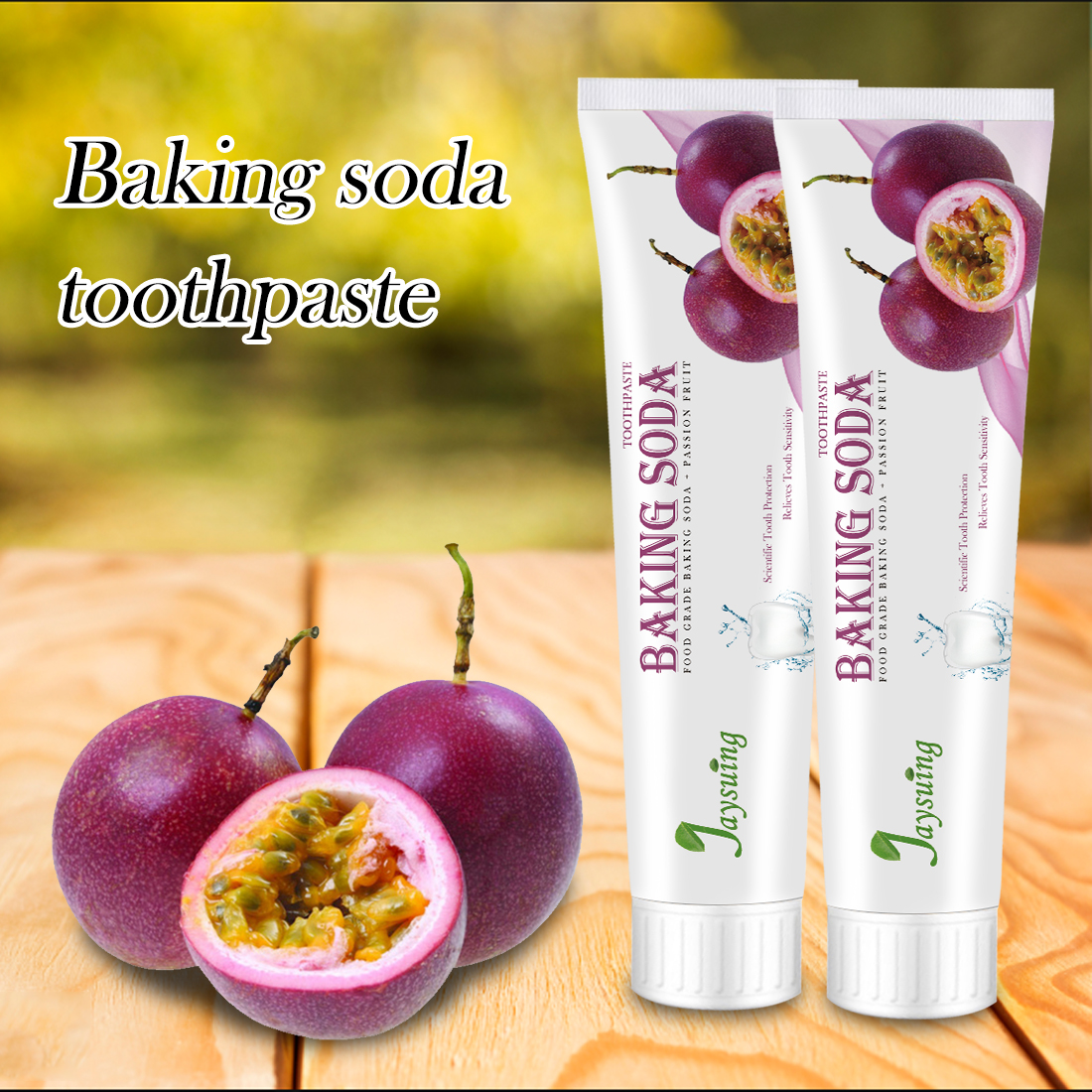 1Pc Family Fruit Flavor Baking Soda Toothpaste Bamboo Toothbrush Teeth Whitening Fresh Breath Remove Tooth Stains Oral Cleaning