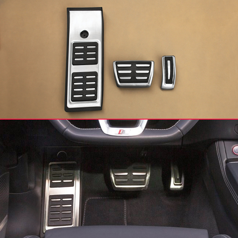 Car Pedal Non-Slip Cover Mat For 2017 2018 2019 Audi Q5 SQ5 FY No Drill Gas Brake Footrest Steel Accelerator Overlay AccessoriesCar Pedal Non-Slip Cover Mat For 2017 2018 2019 Audi Q5 SQ5 FY No Drill Gas Brake Footrest Steel Accelerator Overlay Accessories
