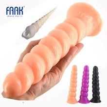 FAAK 10″Long anal plug beads penis spiral sex toys for women man big butt plug anal dildo lesbian masturbator flirt sex shop