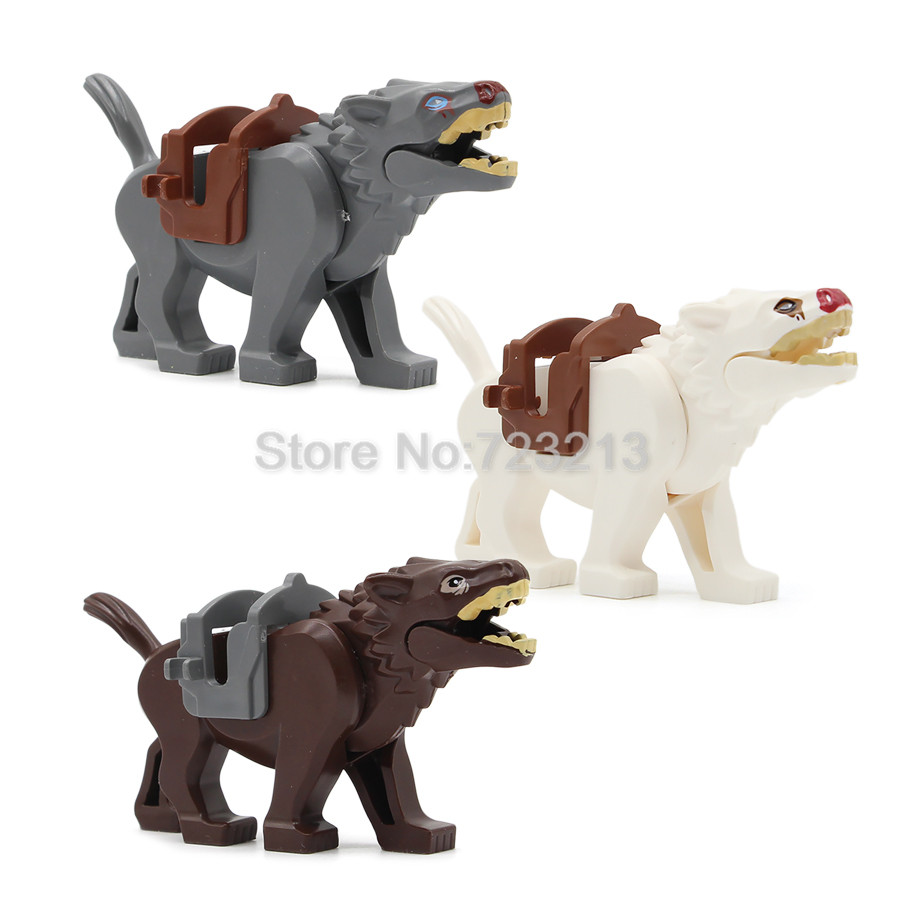 Single Sale Legoings Animal Wolf  Figure Blocks Knight Horse Nazgul War Horse Building Blocks Kids Educational Toys For Children