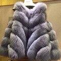 2016 Winter Women Fur Vest Soft Fashion Coat Opera Cloak Plus Size XL Casaco De Pele Natural