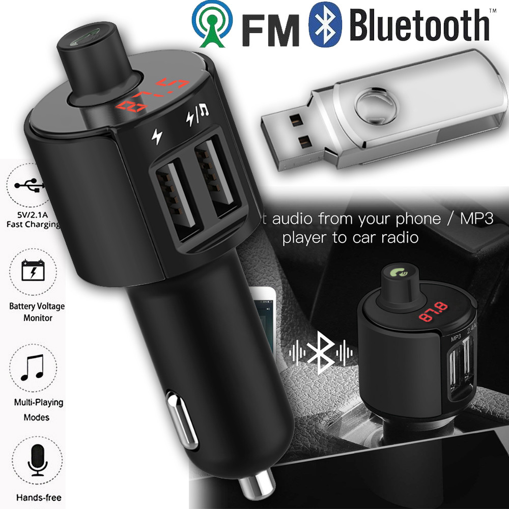 Bluetooth Car FM Transmitter Wireless Radio Adapter MP3 Player Plus USB charger Car Kit MP3 Player TF SD USB LCD Car Accessories fm модулятор lcd sd usb mp3