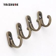 YNIZHURE 28*22 мм 4 шт. ключ мини-вешалки Античный стиль металла бронза крюк декоративная мебель деревянная доска навесные крючки для халатов