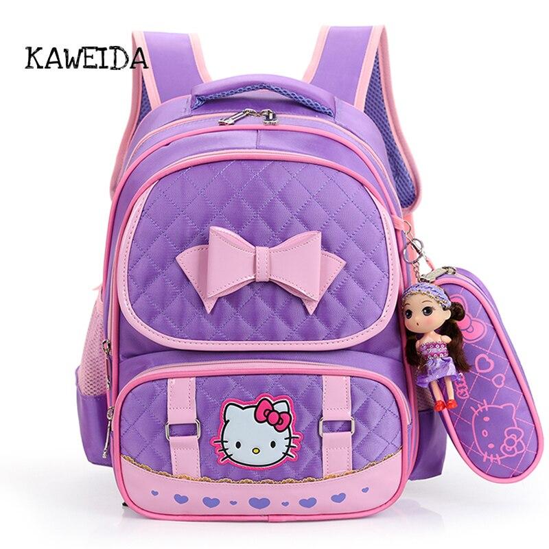 2018 neue Rosa Schwarz Hallo kitty Schule Tasche Rucksack für Mädchen Nette Kinder Lässige Satchel Daypack Schule Liefert Bagpack Rucksack