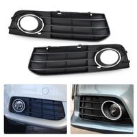 beler New 2Pcs ABS Plastic Right & Left Fog Light Lamp Cover Grille 8K0807682A01C for Audi A4 B8 2008 2009 2010 2011 2012