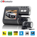 Gotomato Dual Camera DVR Allwinner i1000 Full HD 1080P Dual Lens Dash Cam Video Recorder 2 Camera Night Vision Car DVR Camcorder