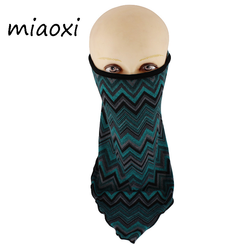 Miaoxi Hot Sale Women Plaid Mask Fashion Riding Face Wind Proof Visor Polyester Scarf Female Warm Mouth Scarf Sale