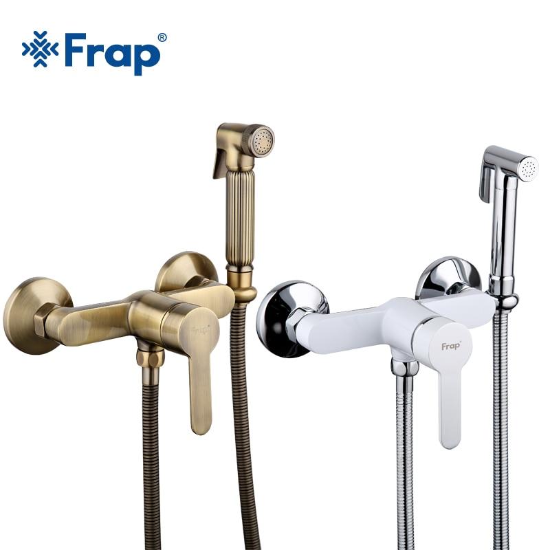 Frap High Quality Bidets Faucet Antique White Toilet Cleaner Set Shower Spray Bidet Sprayer Toilet Faucets