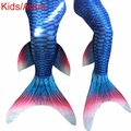 Kiqoo Newest Kids Girl Swimmable Little Mermaid Tail Costume Spandex Girls Kid Mermaid Tails Adult Swimming Children Cosplay