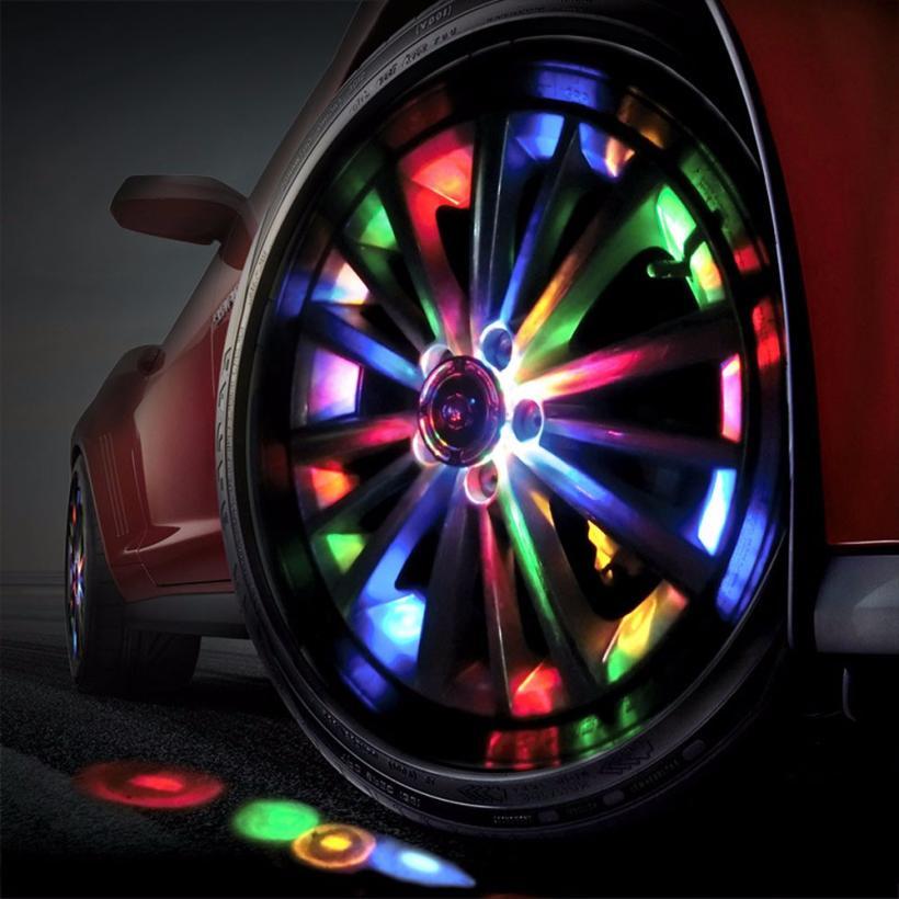 1PCS high quality 100% waterproof 4 Mode 12 LED Colorful Car Auto Solar Energy Flash Wheel Tire Light Lamp Decoration