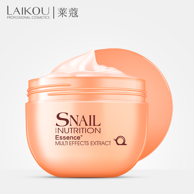 LAIKOU Snail Serum Face Sleep Mask Repair Skin Acne Treatment Black Head Remover Skin Care Whitening Facial Mask Face Care 135g image