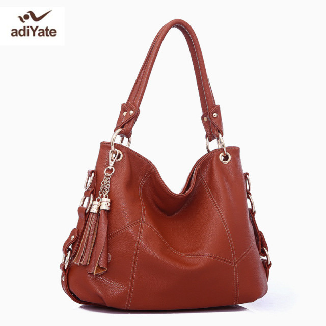 5ccc66b31ee adiYate Leather Stitching Bags Cheap Women Shouler Bags Genuine Leather  Ladies shoulder bags Designer women famous Handbags