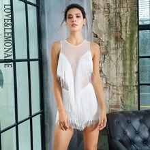 Mesh Playsuit Frangia Materiale