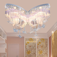 Living room crystal ceiling lamp color crystal lamp main bedroom romantic warm wedding room children's lamp