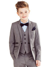 Fashion Children suits for party customized boy Kids suits set (Jacket+Pants+Shirt+vest+ tie)blazer outerwear child suits(China)