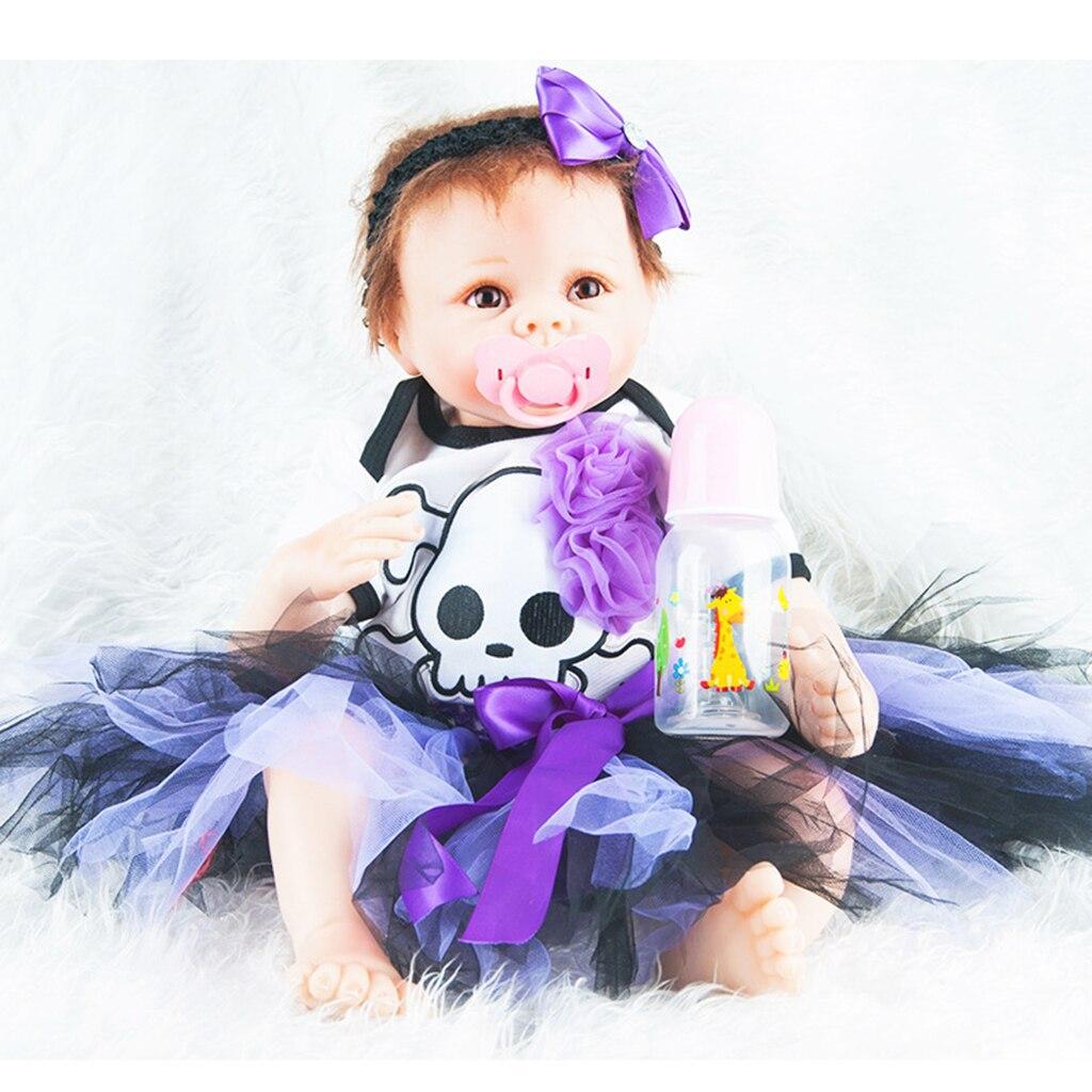 Настоящая жизнь, 22 дюйма, кукла для новорожденного ребенка, размер для новорожденного, поддельная кукла для малыша, чистый мохер, волосы и на