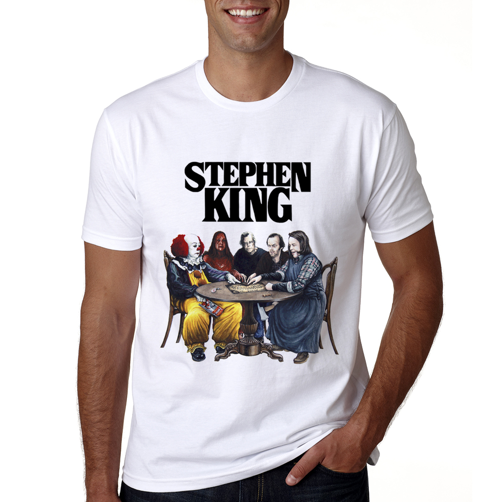 New Arrival Stephen King It Movie Tshirt Summer Men Stephen King Print T Shirt Casual Co ...