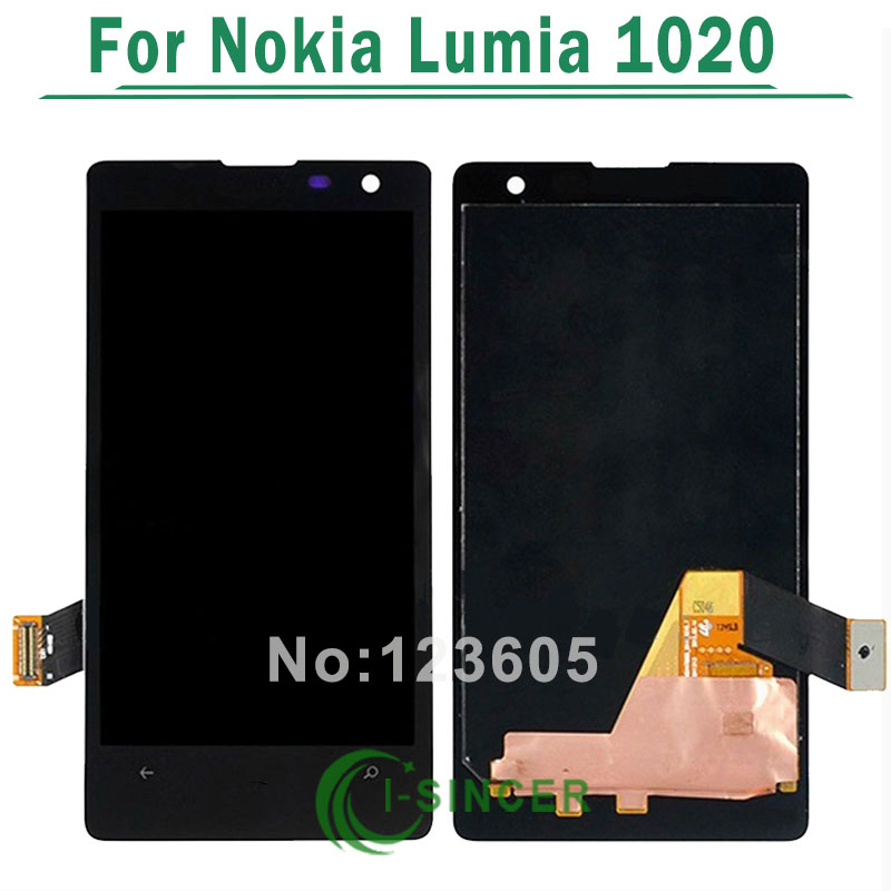 5/PCS LCD Display For Nokia Lumia 1020 with Touch Screen Digitizer Assembly Replacement Parts Black color