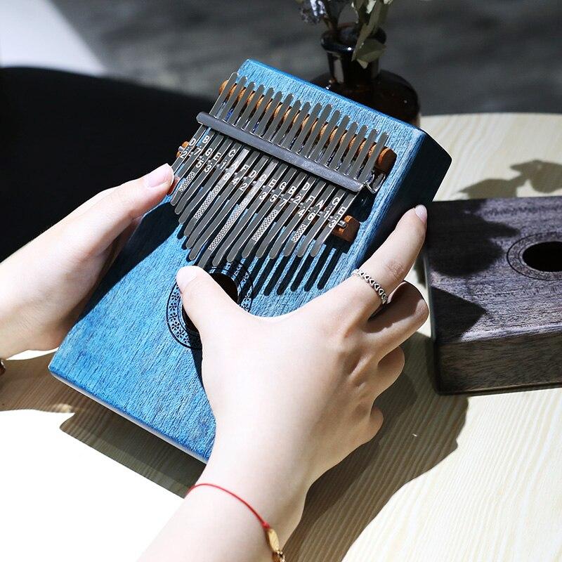 17 clés doigt Kalimba Mbira Sanza pouce Piano poche taille débutants sac de soutien clavier Marimba livraison gratuite