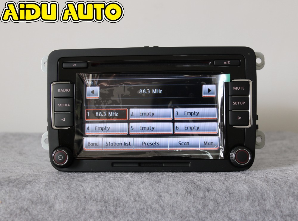AIDUAUTO Car Radio Stereo RCD510 USB MP3 USB AUX Player FOR VW Golf 5 6 Jetta MK5 MK6 CC Tiguan Passat Polo rcd330 rcd330g plus 6 5 mib radio rcd510 rcn210 stereo for vw golf 5 6 jetta mk5 mk6 cc tiguan passat b6 b7 polo touran 187a