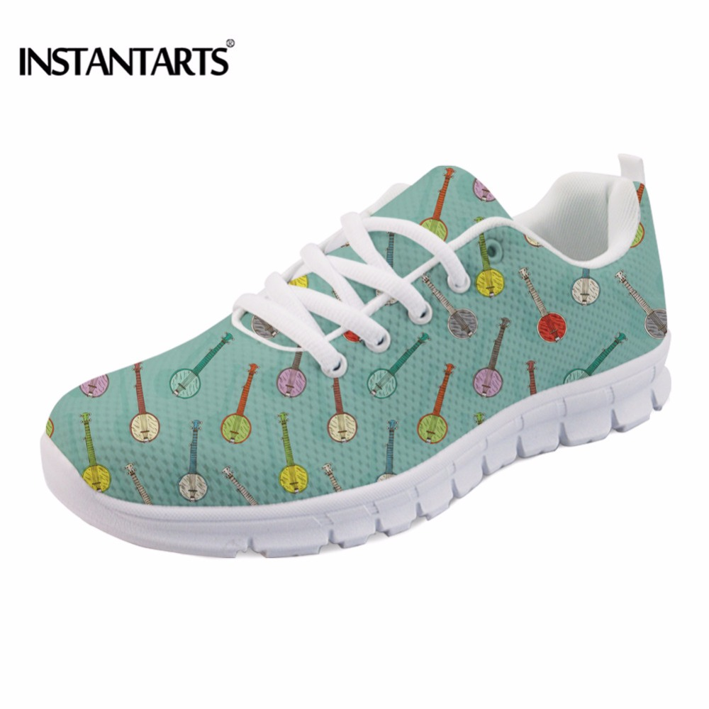 Girl On Piano Cartoon 3D Print Mens Sport Sneakers Running Shoes