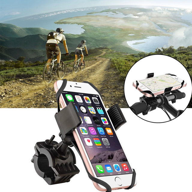 Iphone Holder For Bike >> Us 2 44 25 Off Bicycle Phone Holder 360 Rotatable Universal Cellphone Bracket Bike Mount Holders Racks For Iphone Xr Xs Max Gps Device Ciclismo In
