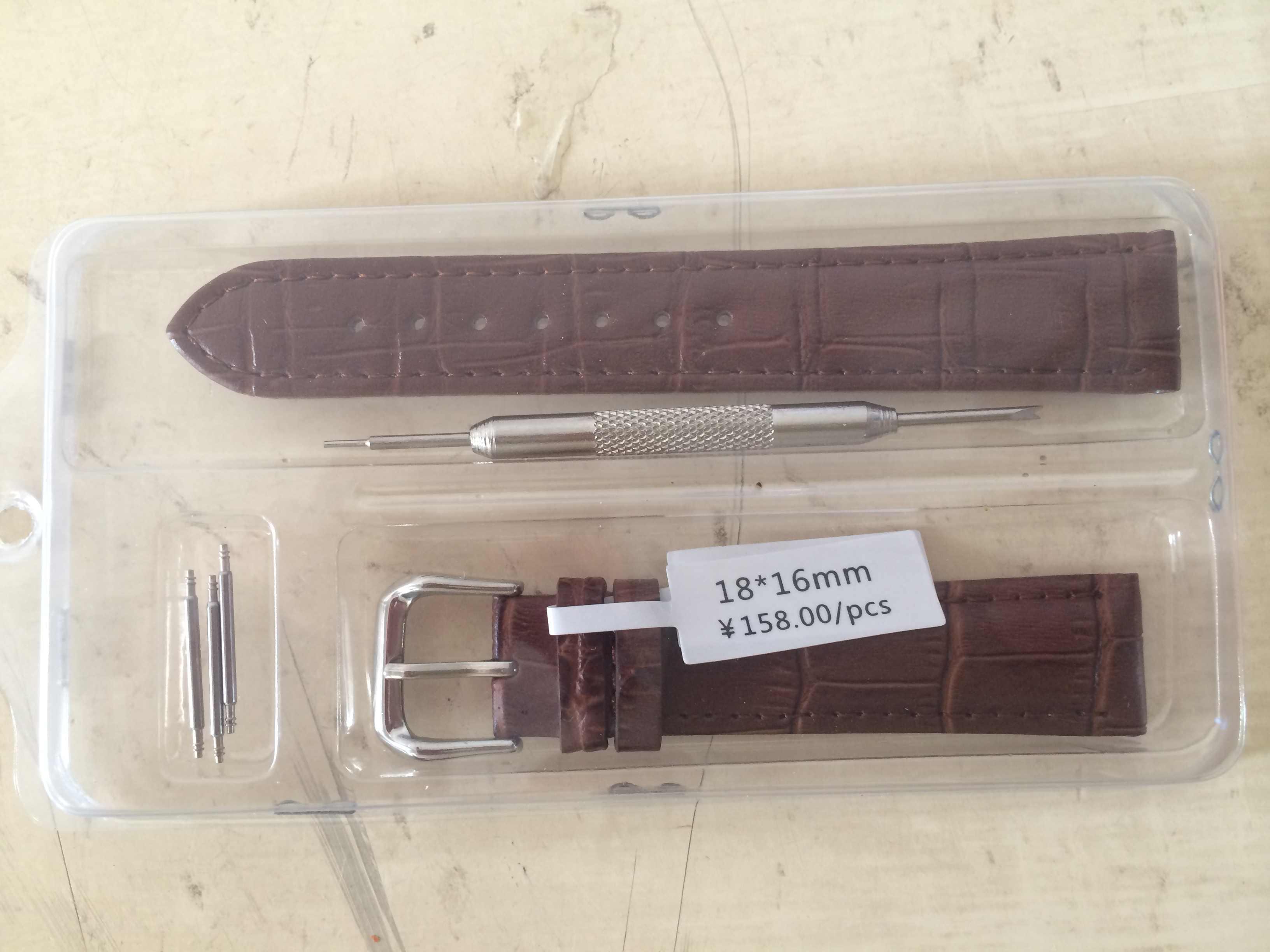 หรูหรานาฬิกาสายคล้องคอนาฬิกาข้อมือหญิงสีแดงสีขาวสีดำของแท้ leather10 12 14 15 16 17 18 19 20 21 22 24 mmwatchband