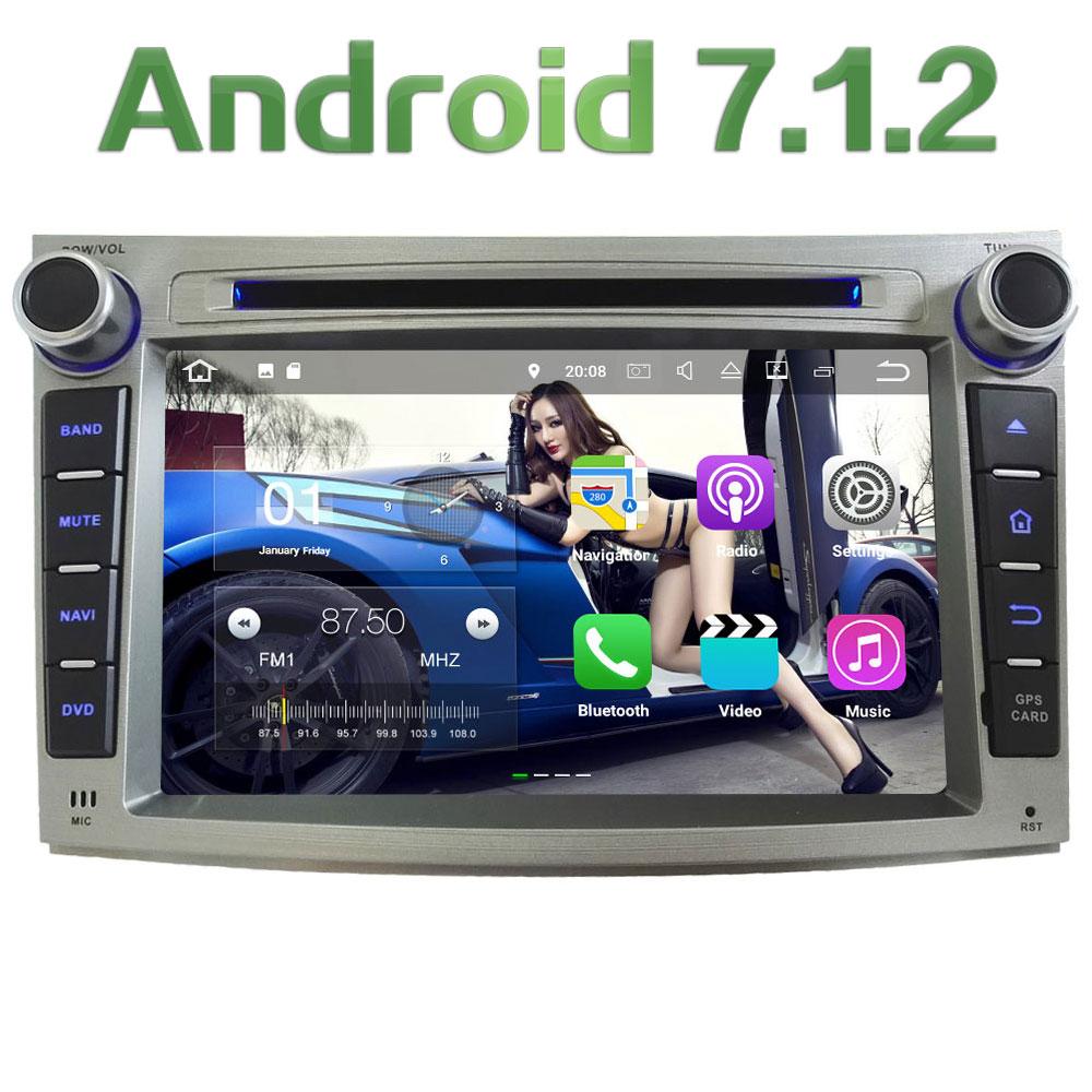 7'' 2GB RAM Android 7.1.2 Quad Core SWC DAB+ Car Multimedia DVD Player Radio GPS Navi Stereo For Subaru Legacy Outback 2009-2014 2gb ram 9 android 7 1 2 quad core 4g wifi swc dab rds car multimedia player radio stereo for subaru forester wrx xv 2013 2017
