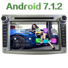 "7"" 2GB RAM Android 7.1.2 Quad Core SWC DAB+ Car Multimedia DVD Player Radio GPS Navi Stereo For Subaru Legacy Outback 2008-2013"