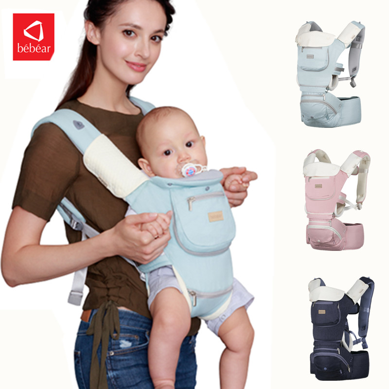 Bebear Ergonomic Baby Carrier AX03 Baby Wrap Sling For Baby Travel 0-36M Infant Baby Hipseat Carrier Front Facing Belt