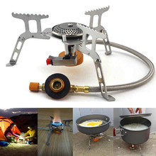 Picnic Stove Burners Outdoor Portable Camping Hiking 3500W Split Gas