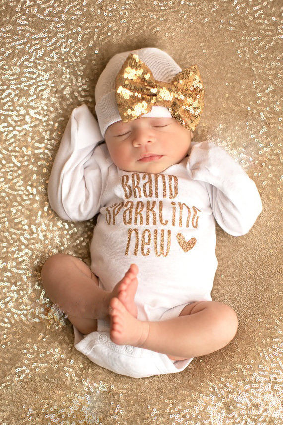 2017 Baby Girls Clothing Sets Sequin Infant Newborn Baby -6474