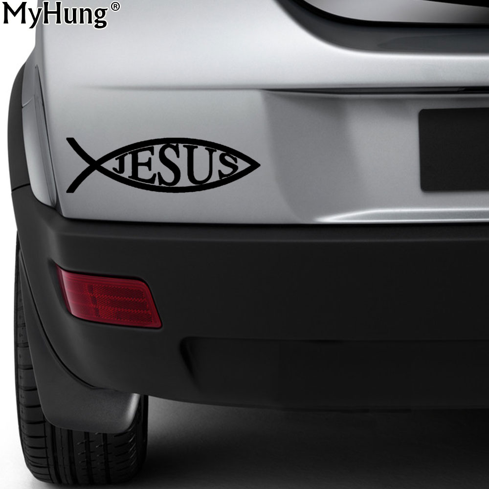 144cm jesus fish vinyl bumper stickers motorcycle personality reflective car notebook sticker decal car styling accessories