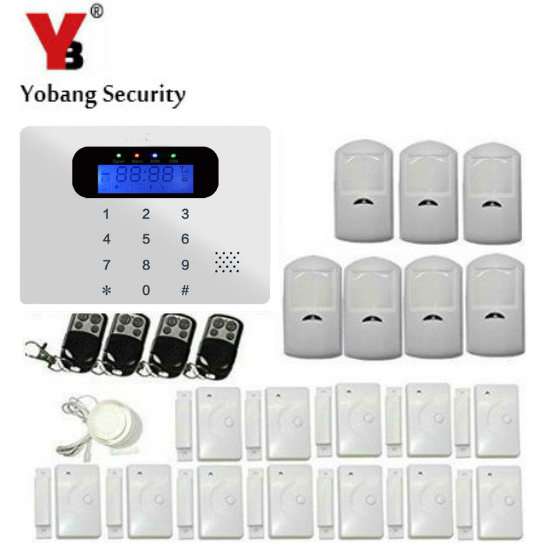 YobangSecurity Home GSM Wireless Security Alarm System Wireless PIR Motion Infrared Detector+12PCS Wireless Door / Window Sensor ir 4beams outdoor 20m infrared barrier detector home yard door alarm for my gsm alarm system