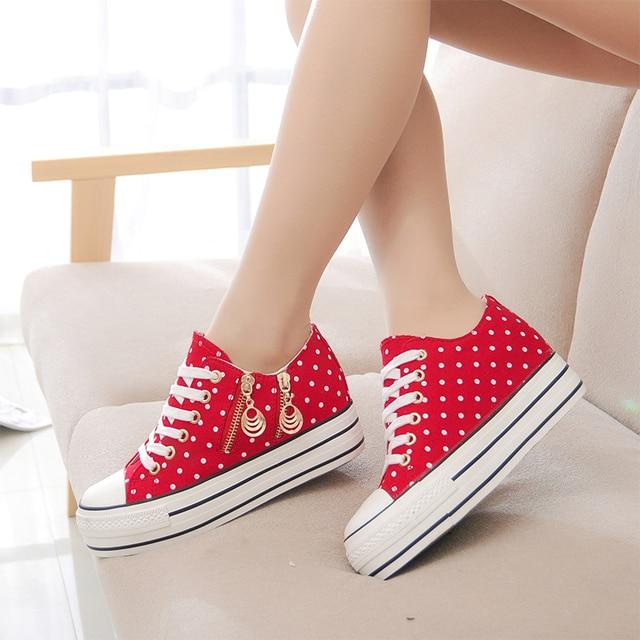 121b0ef5 Cremallera Zapatos Plataforma De Zapatillas Mujer 2015 Moda Lona wqzT8t0