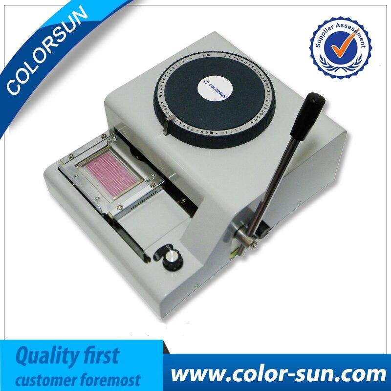 ID Carte Code pour Gaufrage Machine pour PVC Carte Embosseuse