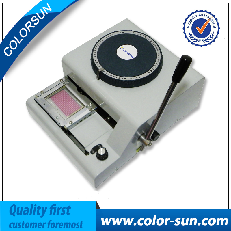 ID Card Code for Embossing Machine for PVC Card Embosser